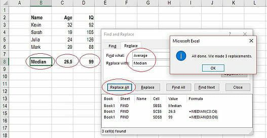 How to Find and Replace in Excel