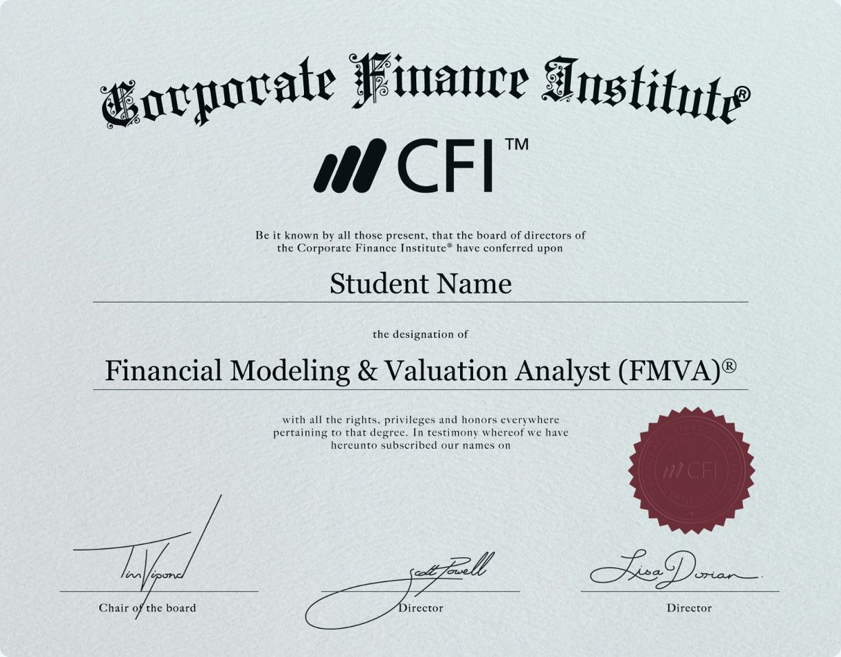 Financial Modeling and Valuation Analyst (FMVA) Certificate