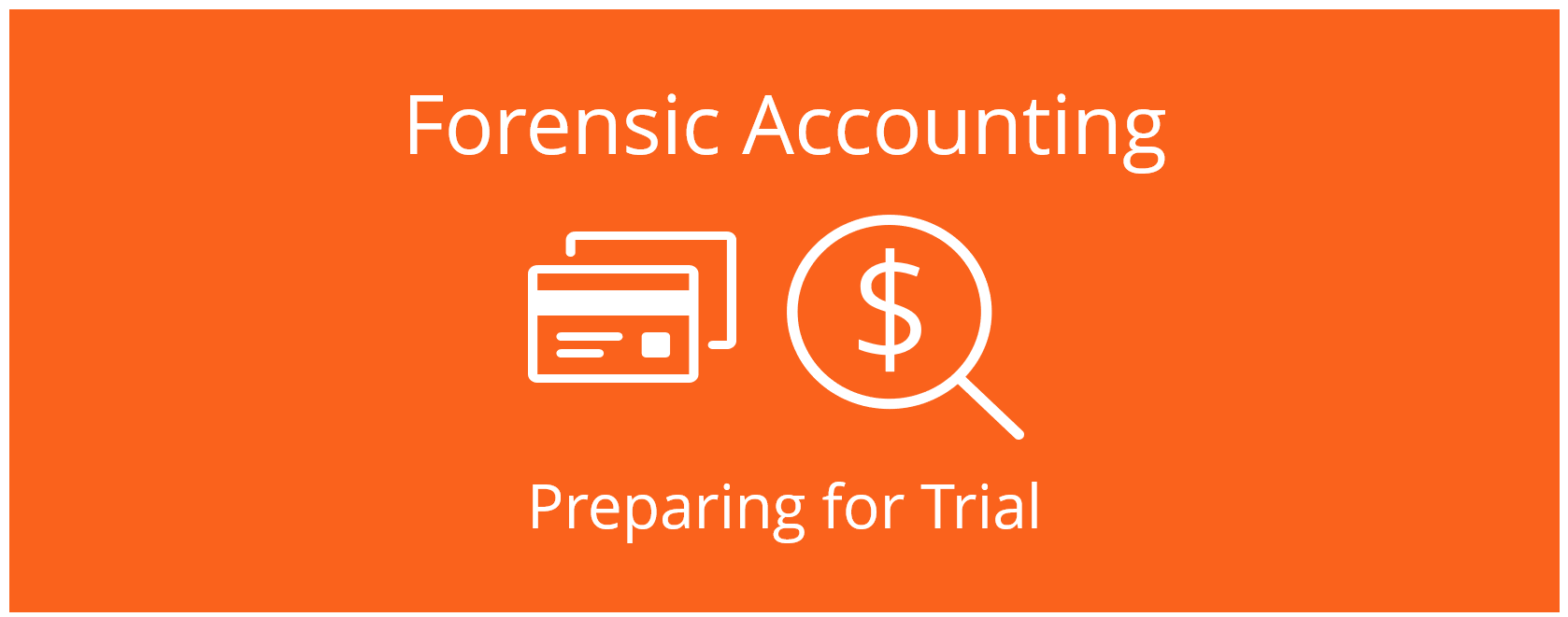 Forensic Accounting - preparing for litigation