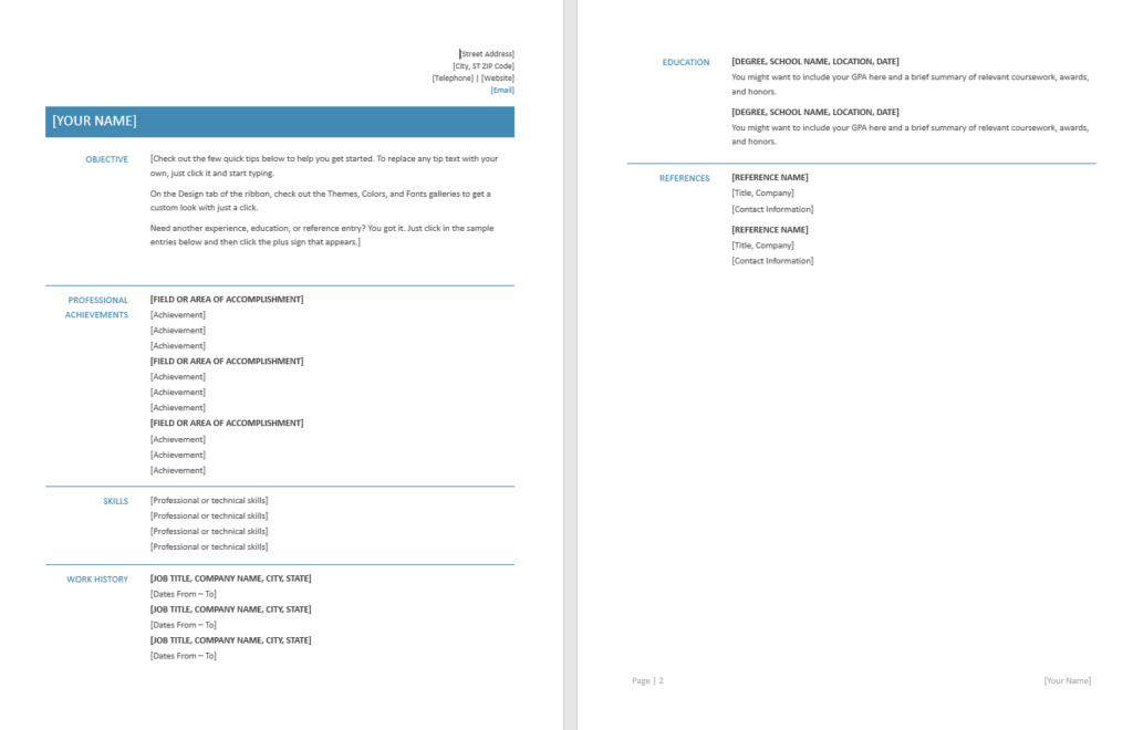 Functional Resume - Template