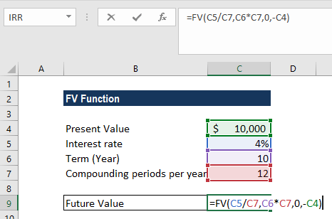 FV Function - Example 1