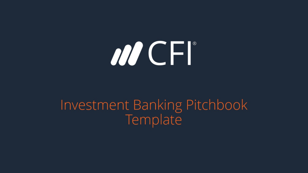 Investment banking pitchbook template cover