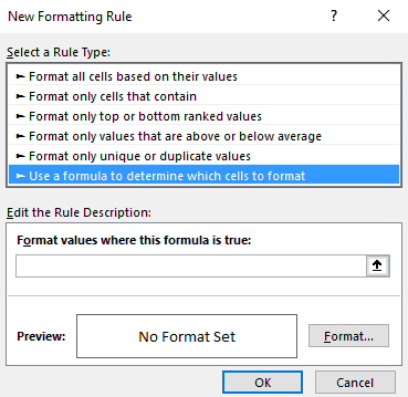 ISEVEN Function - Conditional Formatting