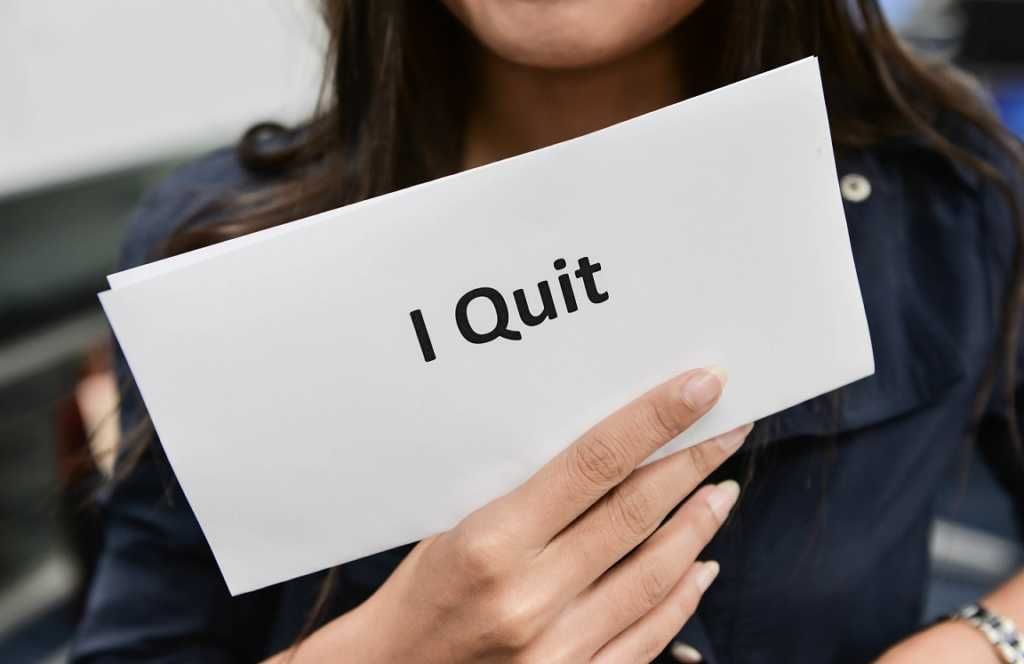 Resignation Letter theme - woman quitting her job