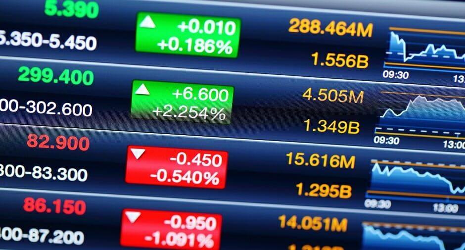 Marketable Securities Shown on a Screen