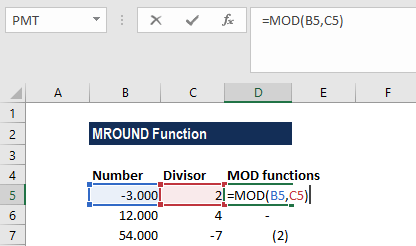 MOD Function - Example 1