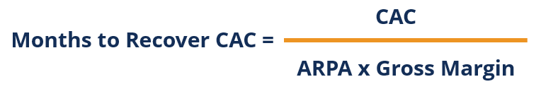 Months to Recover CAC - Formula