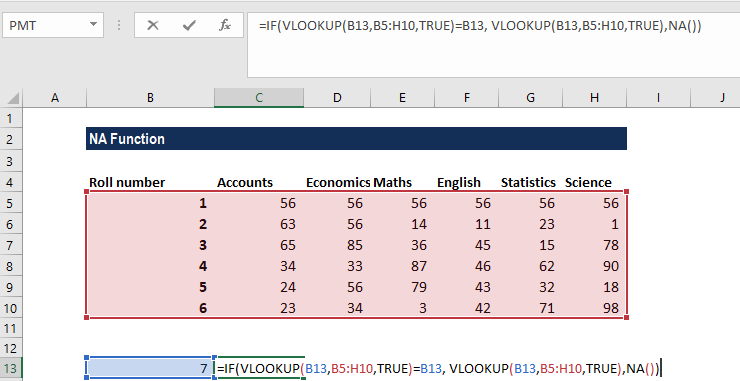 NA Function - Example 2a