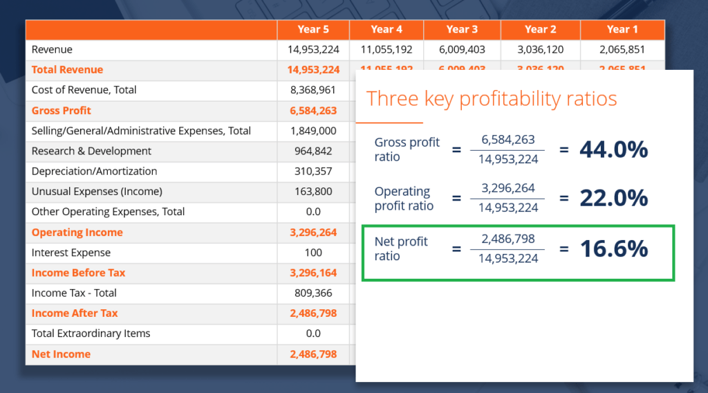 Example of Net Profit Margin Ratio Formula