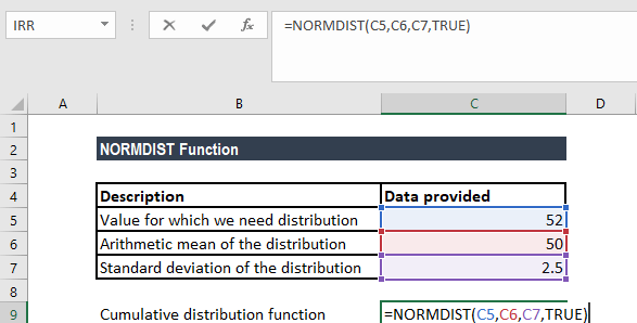 NORMDIST Function