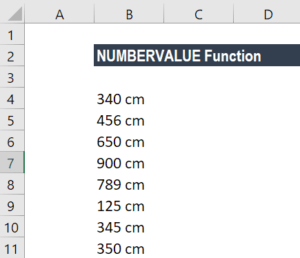 NUMBERVALUE Function - Example 2a