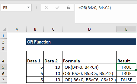 OR Function - Example 1