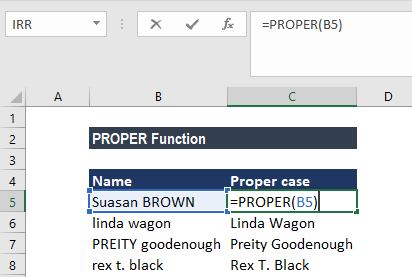 PROPER Function - Example 2a