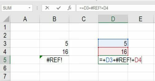 #REF Excel Error screenshot