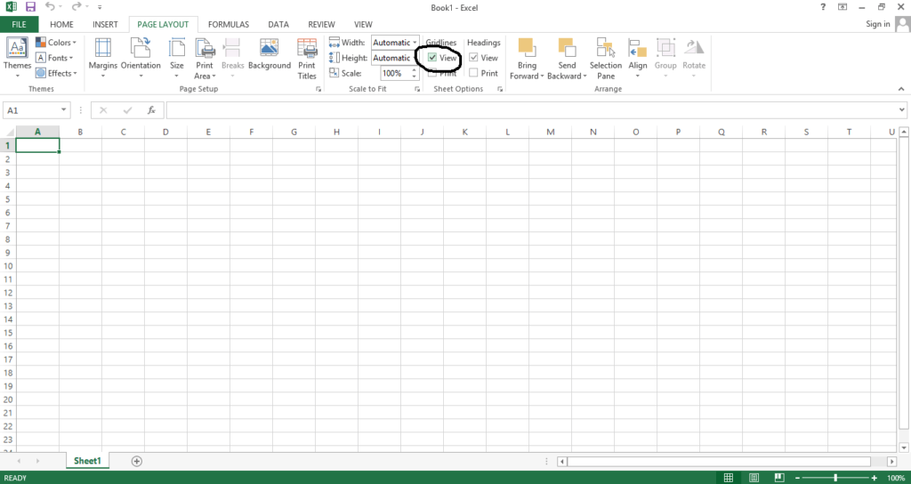 Remove Gridlines in Excel