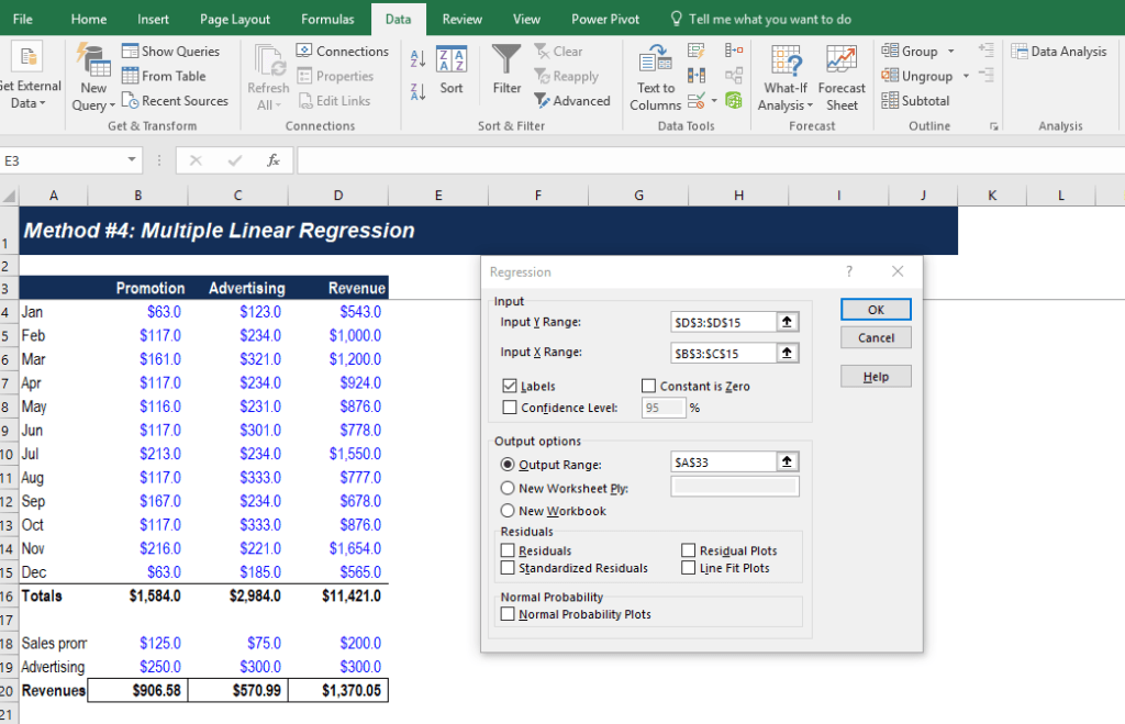 Multiple Linear Regression - Step 1