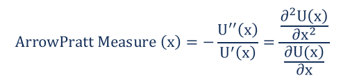 Arrow-Pratt Formula