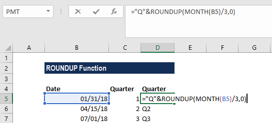ROUNDUP Function - Example 2