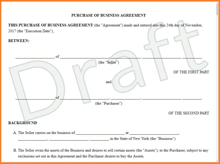 Sale and purchase agreement features provisions examples business sale and purchase agreement spa example flashek Choice Image