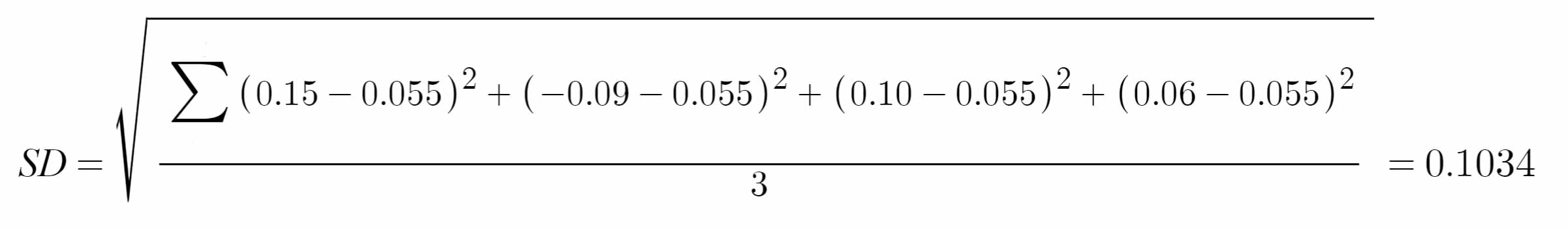 Standard Deviation Example Solution