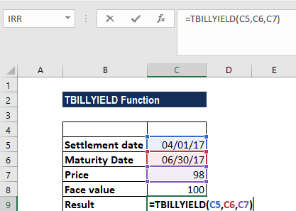 TBILLYIELD Function