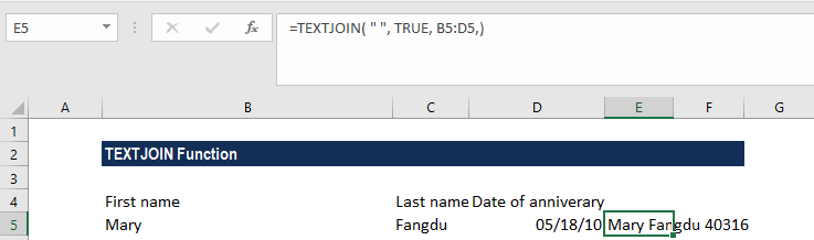 TEXTJOIN Function - Example 3b