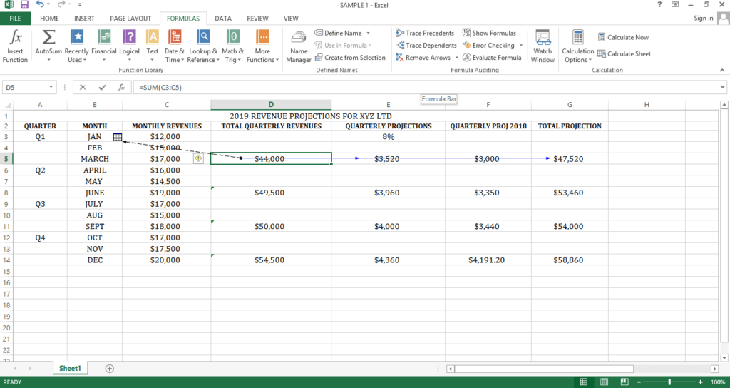 Tracing Dependents on Another Excel Worksheet