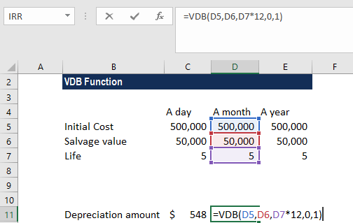 VDB Function - Example 1a